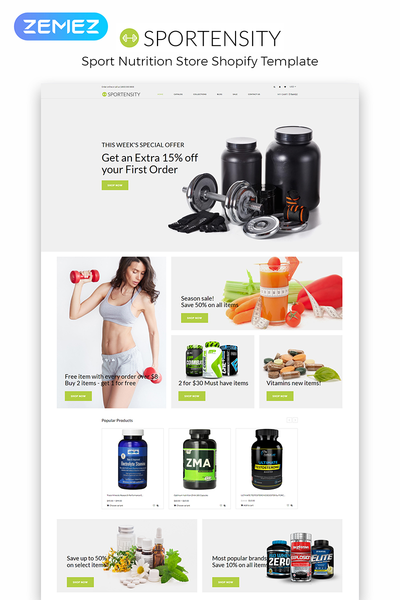 Sportensity - Sports Store eCommerce Clean Shopify Theme
