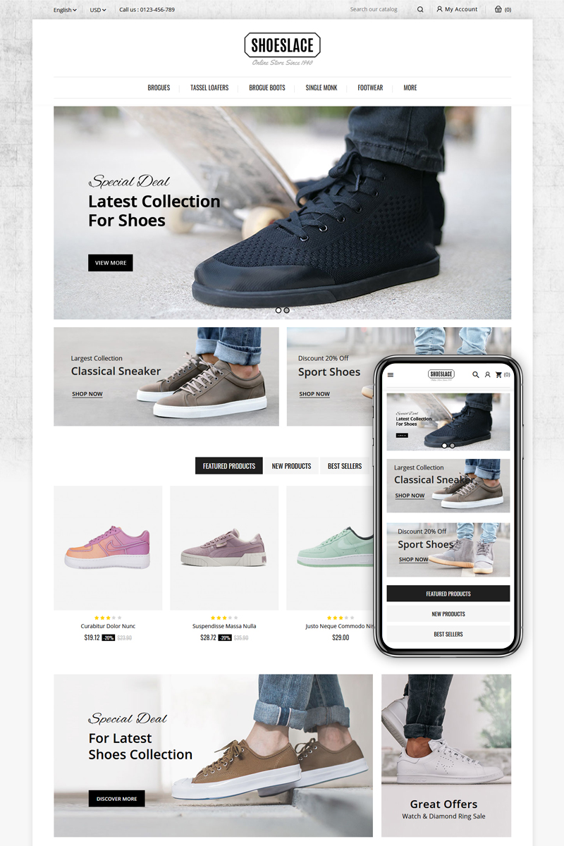 Shoeslace - Footwear Shop PrestaShop Theme