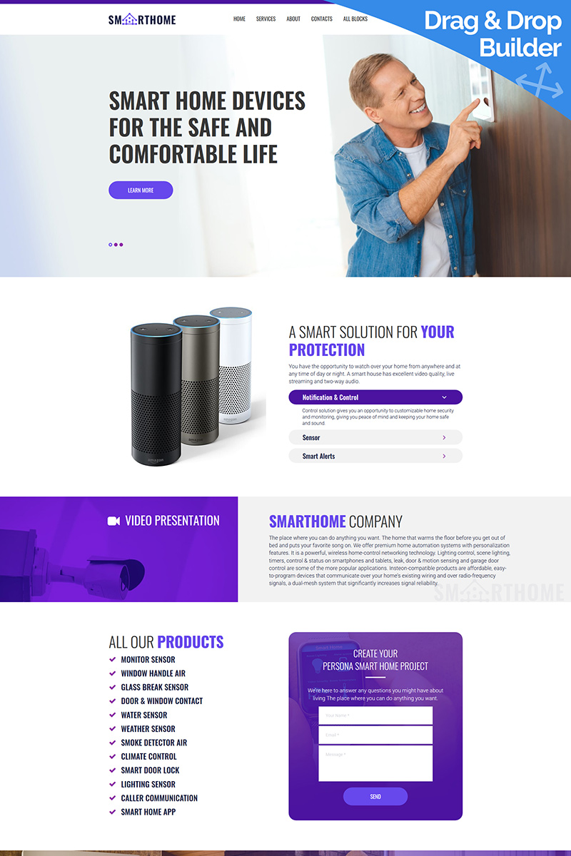 Smart Home Landing Page Template