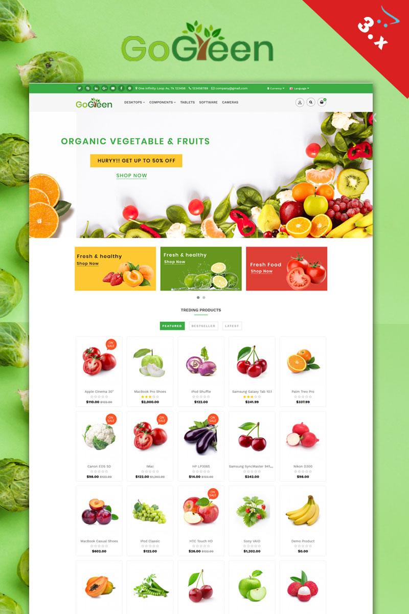 Gogreen Organic OpenCart Template