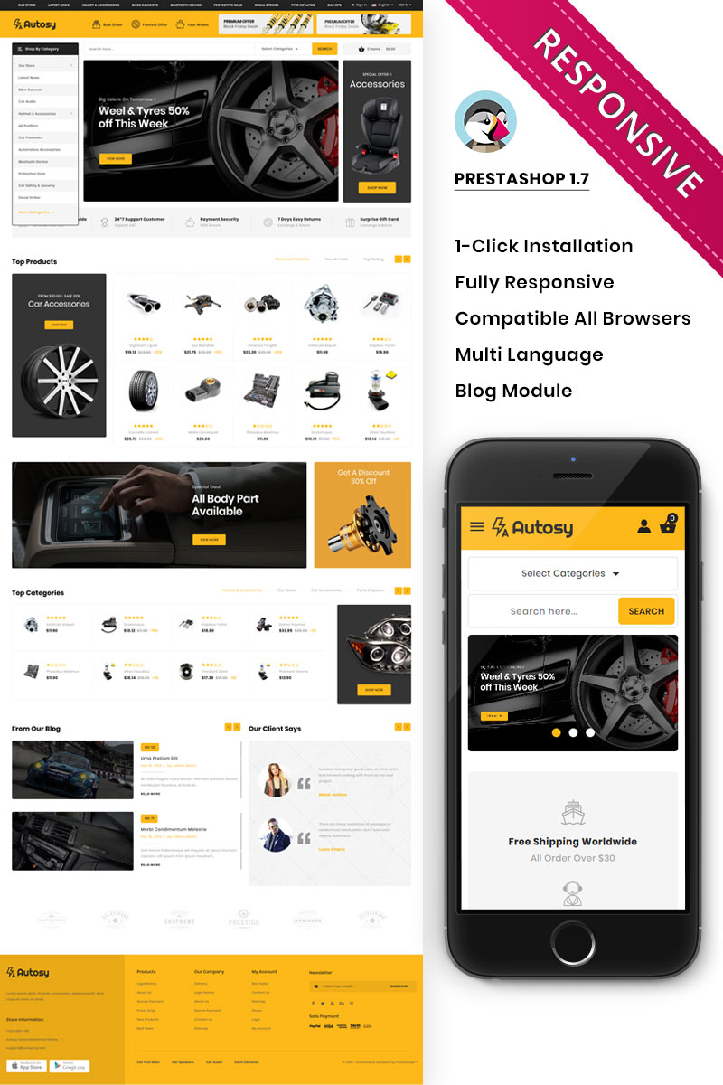 Autory - The Mega Automobile Store PrestaShop Theme