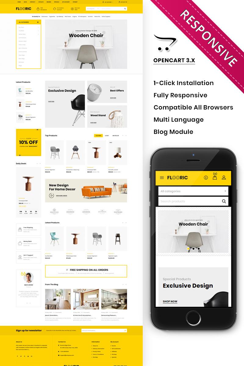 Flooric - The Mega Furniture Shop Responsive OpenCart Template