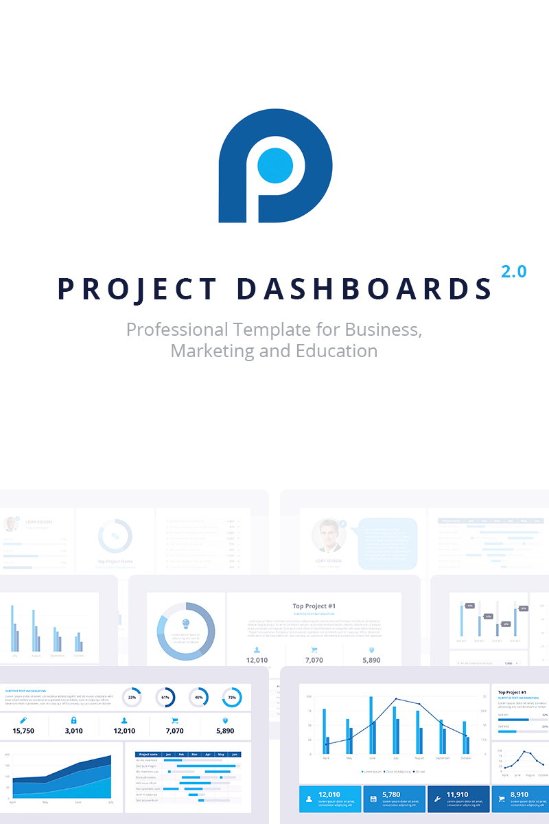 Project Dashboards 2.0 for PowerPoint Template