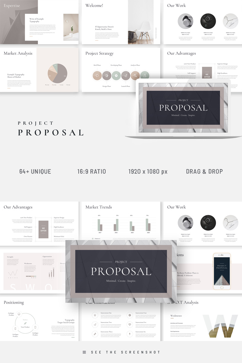 Project Proposal Business Plan PowerPoint Template