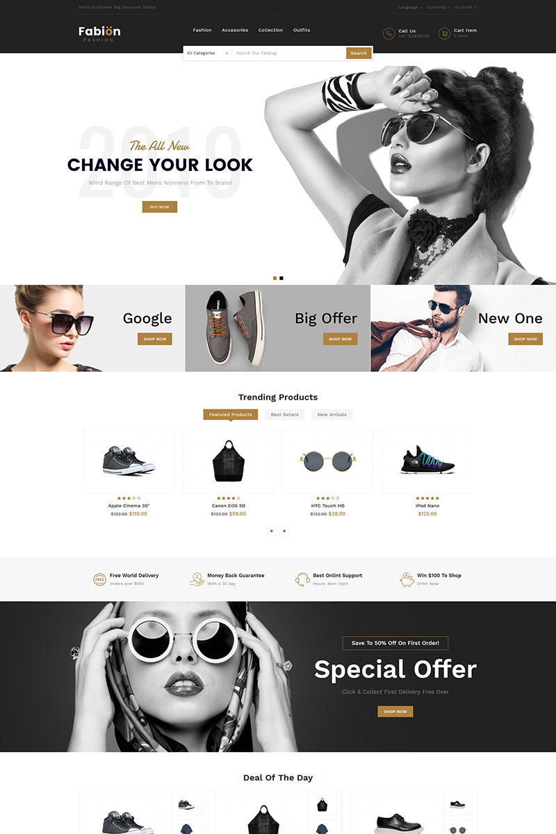 Fabion Fashion Store OpenCart Template