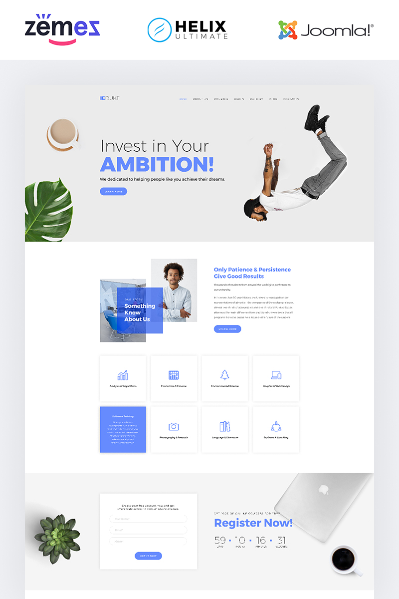 Edukt - Education Multipage Creative Joomla Template