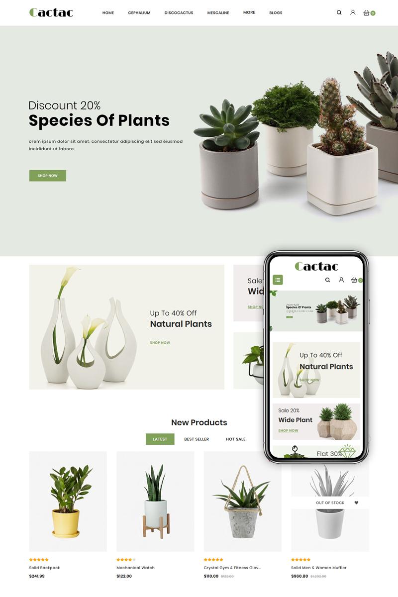 Cactac - Plant Shop OpenCart Template