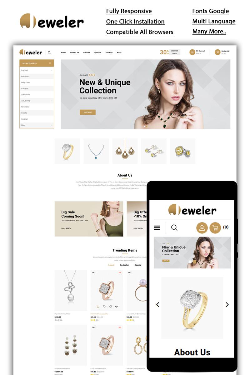 Jeweler - Online Store OpenCart Template