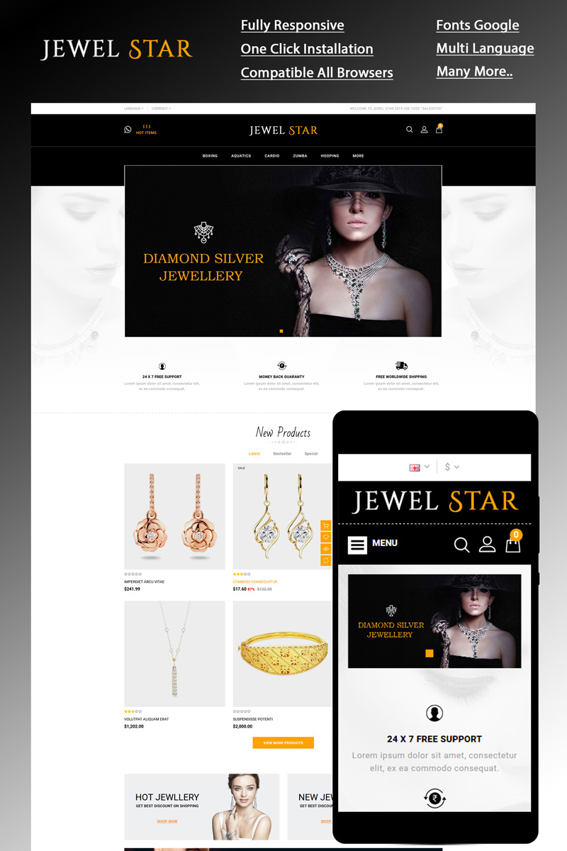 Jewelstar OpenCart Template