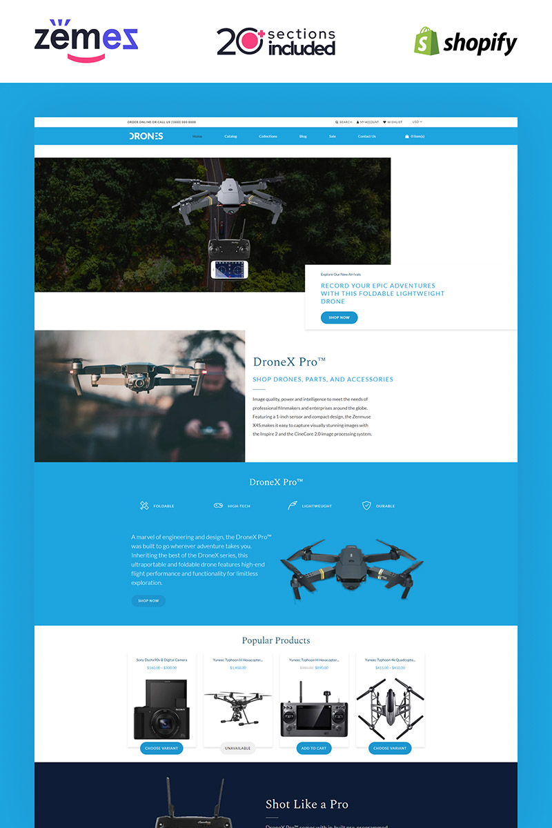 Drones - Gadgets Store Shopify Theme