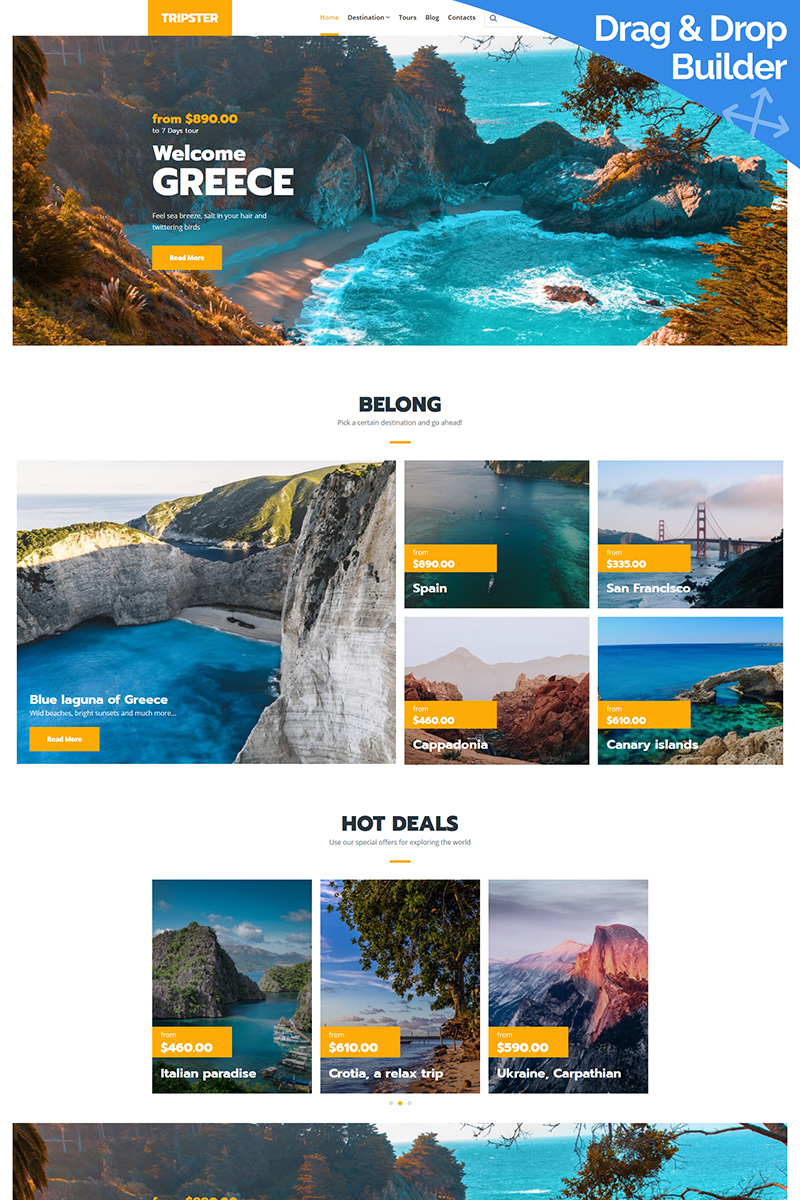 Tripster - Tourism Moto CMS 3 Template