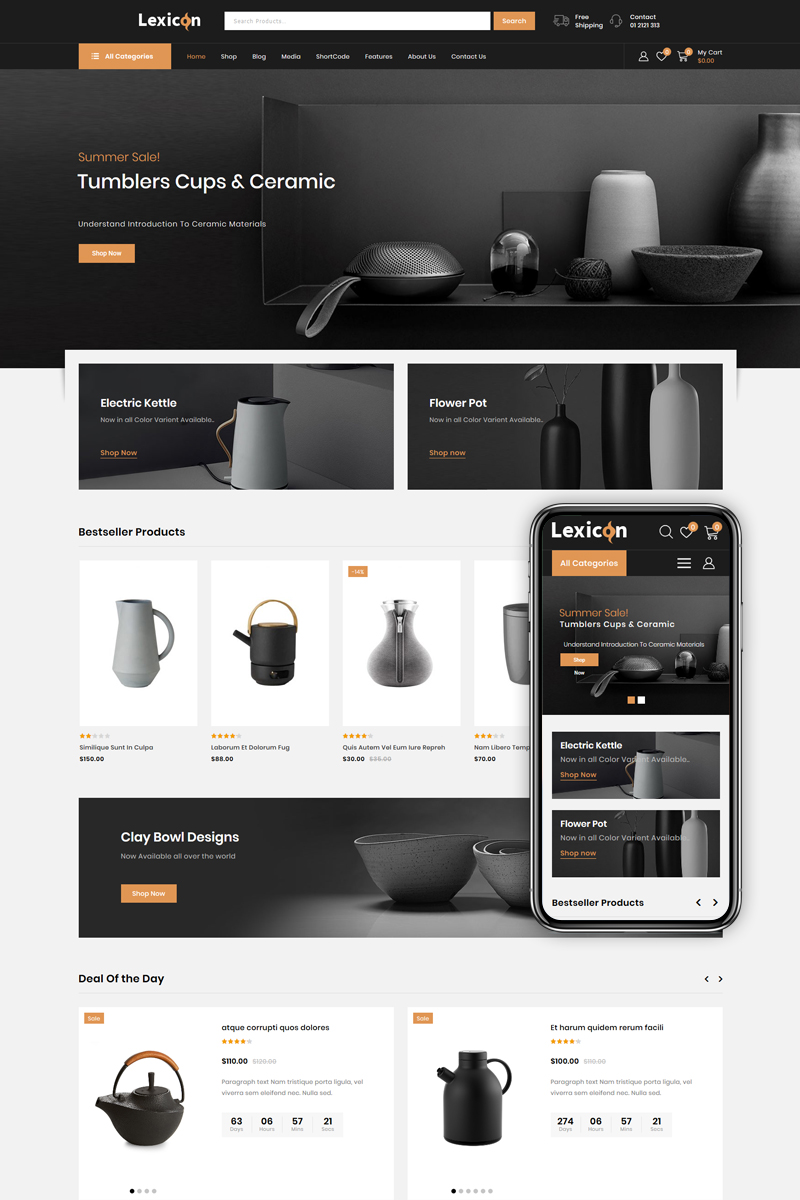 Lexicon - Art and Gallery Shop WooCommerce Theme