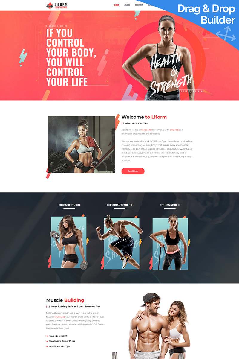 Liform - Best Crossfit Moto CMS 3 Template