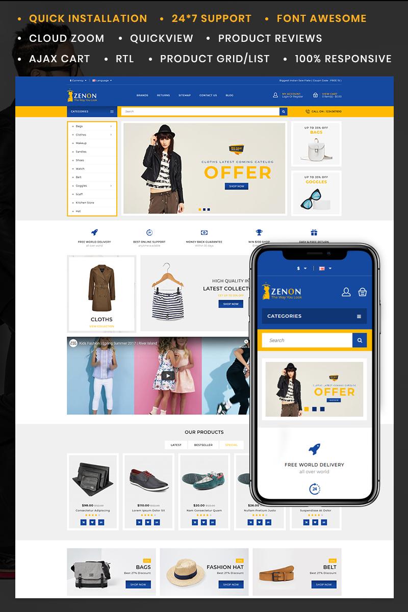 Zenon Fashion Store OpenCart Template