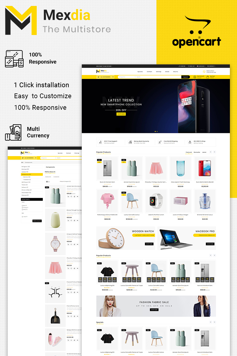 Mexdia Multipurpose OpenCart Template
