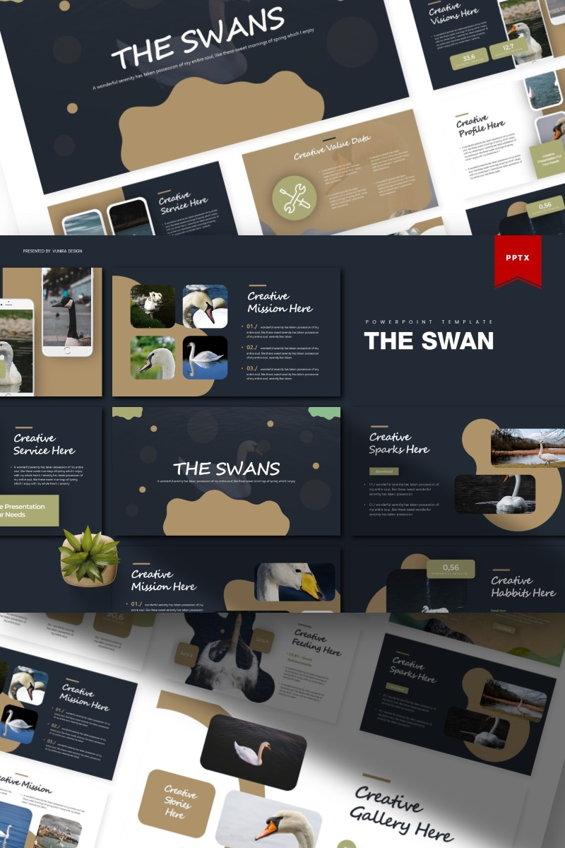 The Swan   PowerPoint Template