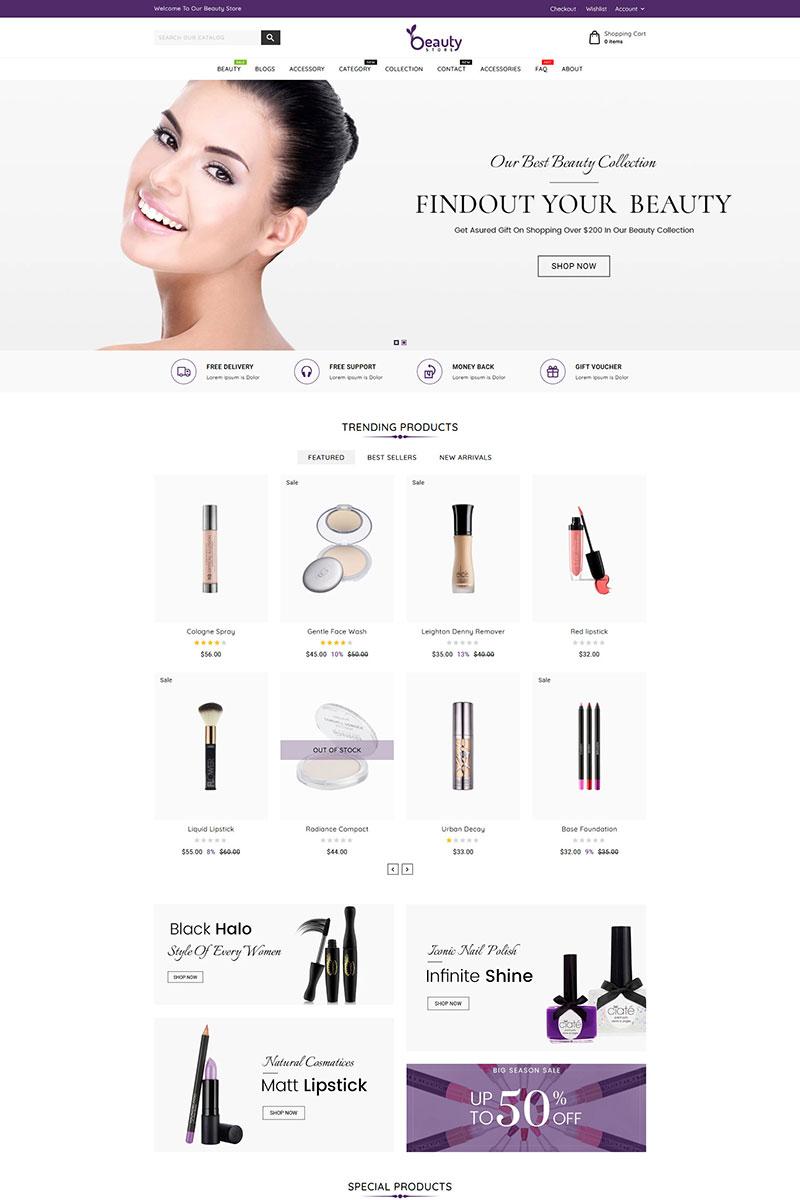 Beauty Cosmetics Store Shopify Theme