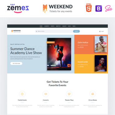Template Divertisment HTML, JS şi CSS #86057