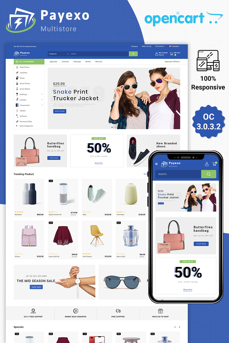Payexo The Best Fashion Store OpenCart Template