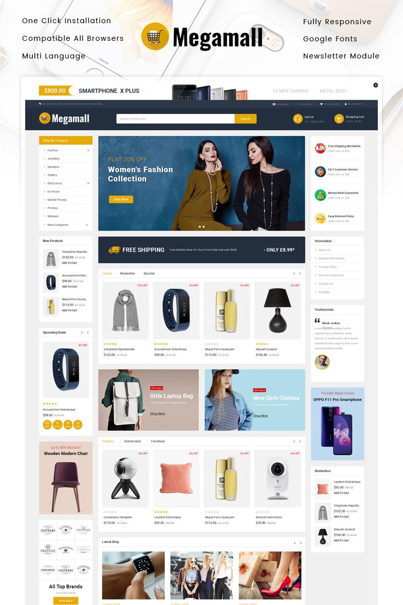 Megamall - Multipurpose Store OpenCart Template