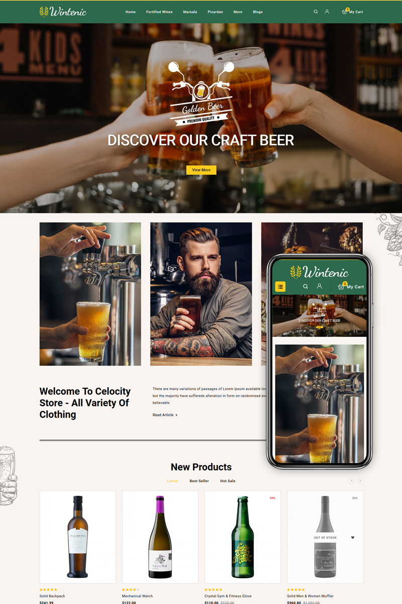 Wintenic - Wine & Drink Shop OpenCart Template