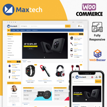 Template Electronice WooCommerce #86313