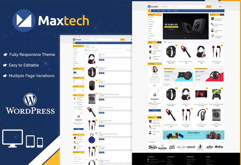 Maxtech - Multipurpose Electronics Store WooCommerce Theme