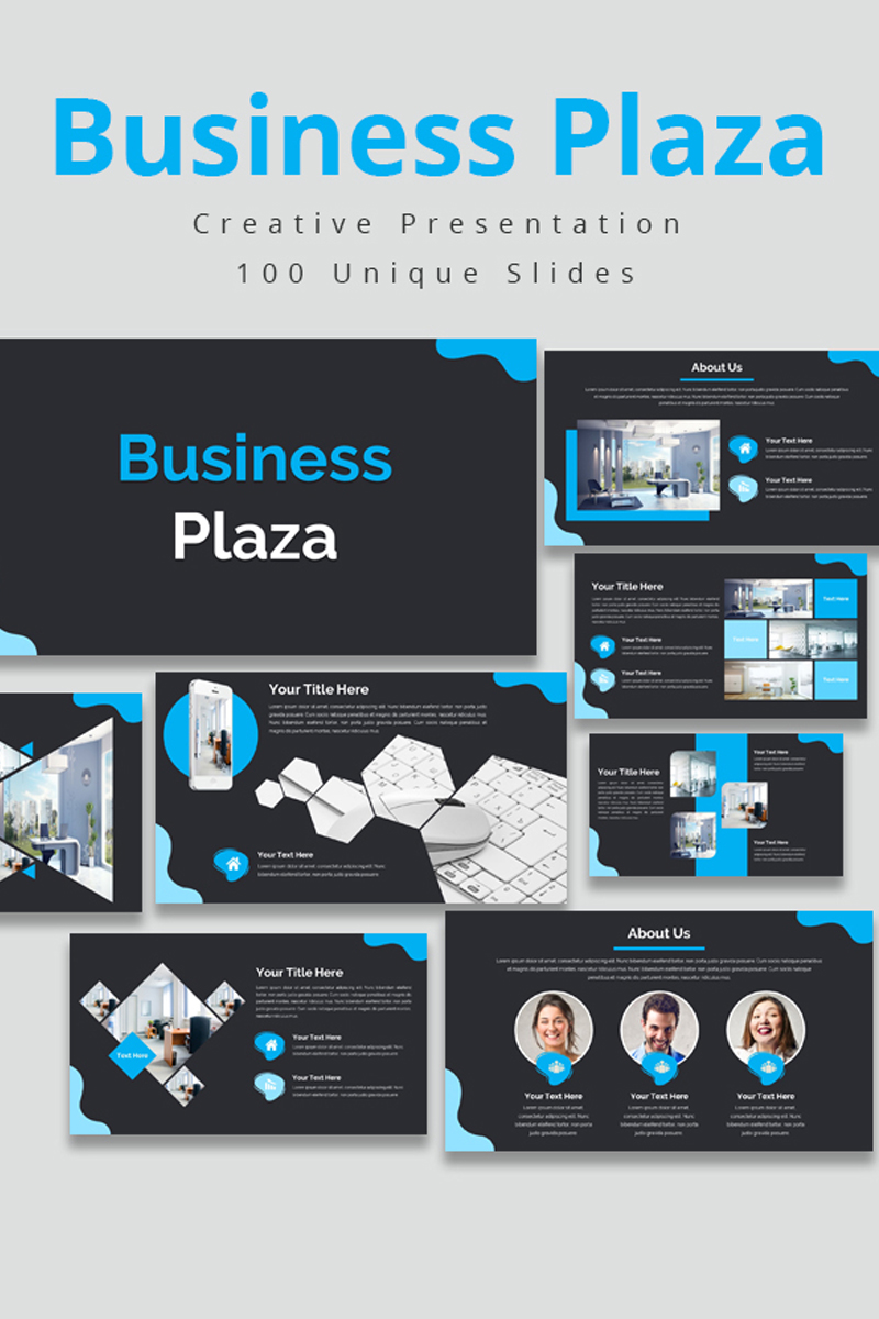 Business Plaza PowerPoint Template