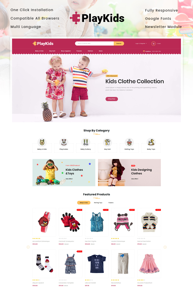 Playkids - Kids Store OpenCart Template