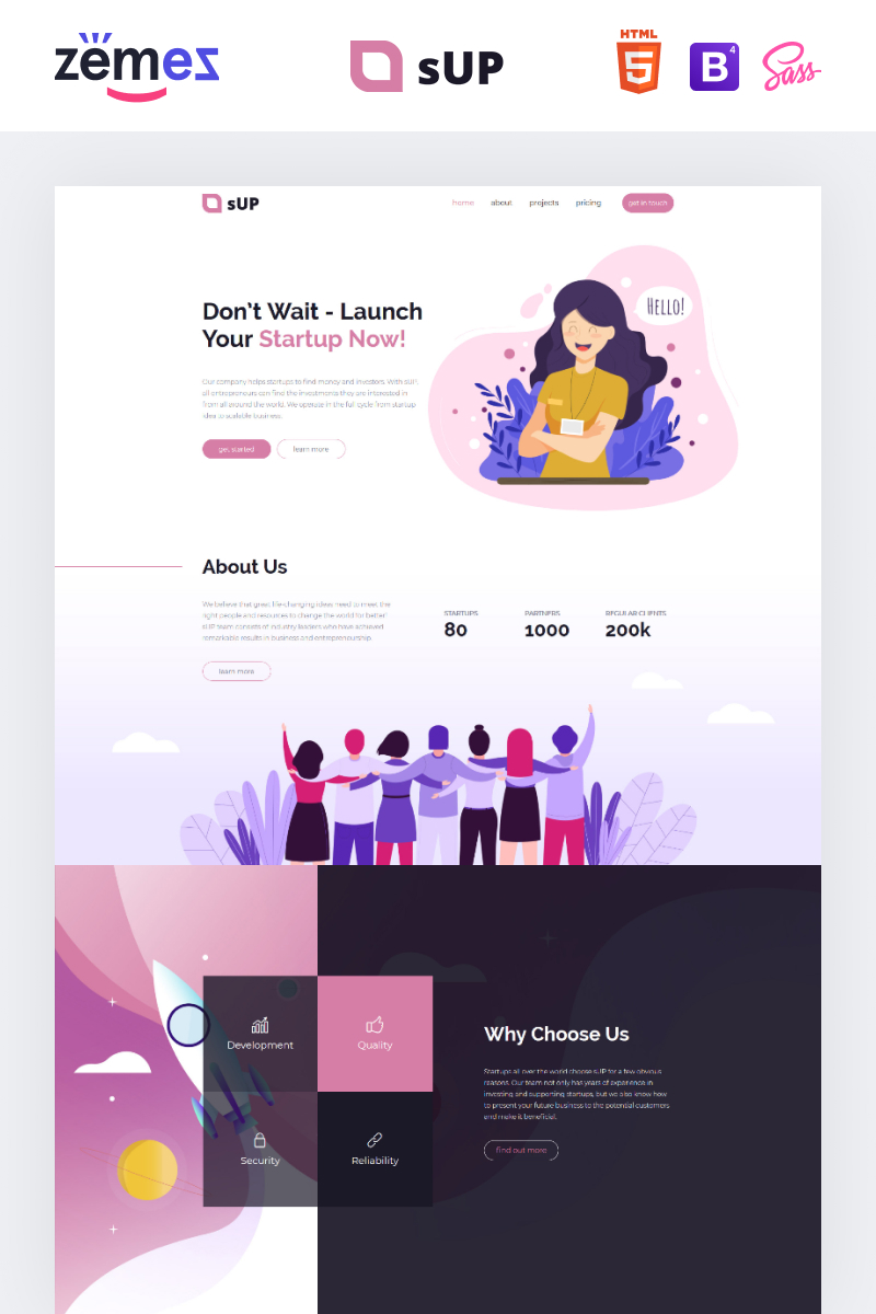 sUp - IT Creative HTML Landing Page Template