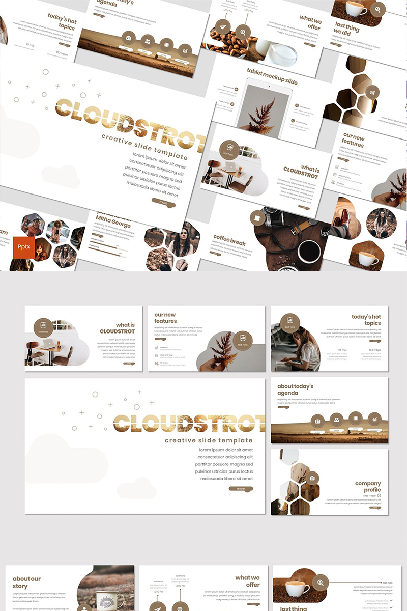 Cloudstrot PowerPoint Template