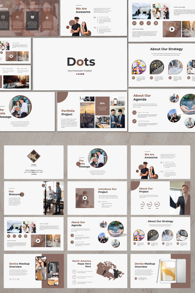 Dots Creative PowerPoint Template