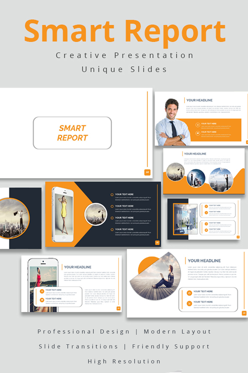 Smart Report PowerPoint Template