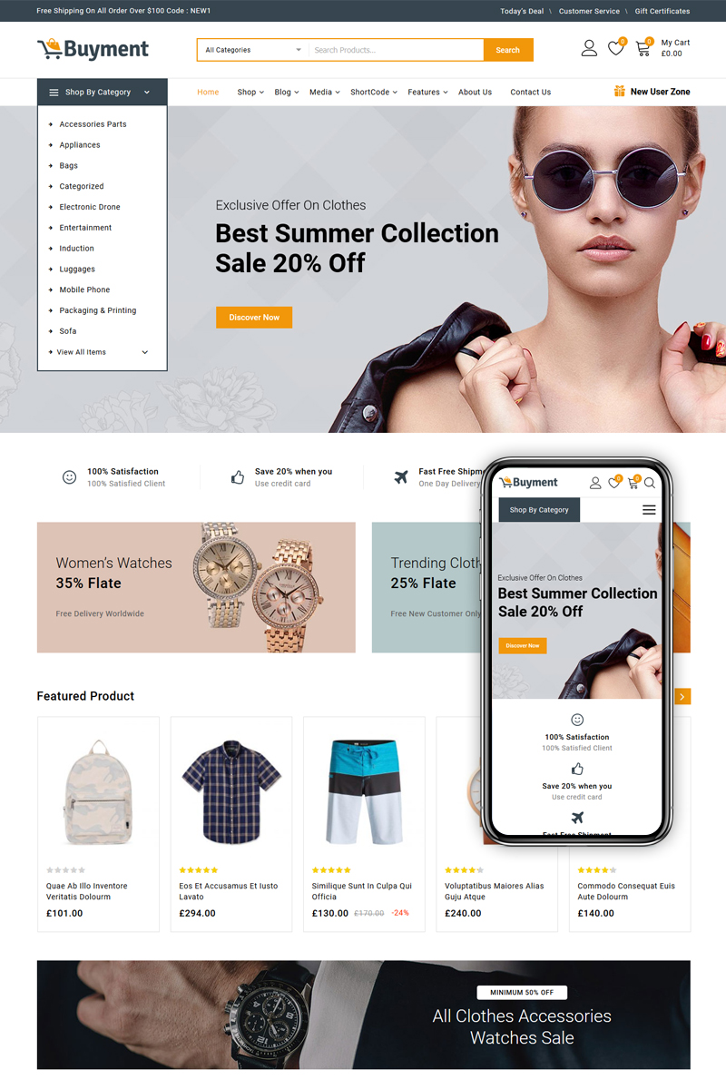 Buyment - Multipurpose Shop WooCommerce Theme