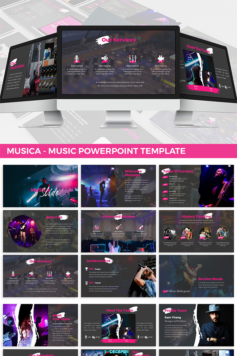 Musica - Entertainment PowerPoint Template