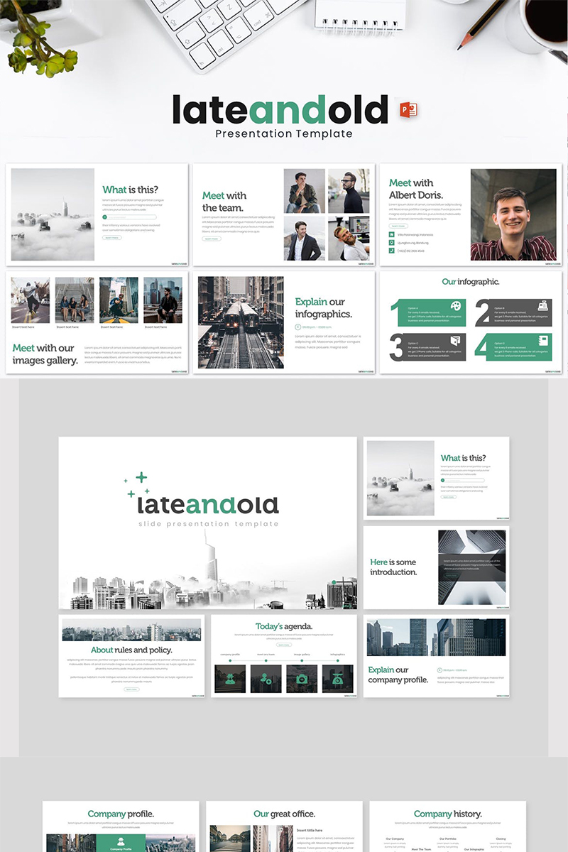 Lateandold PowerPoint Template
