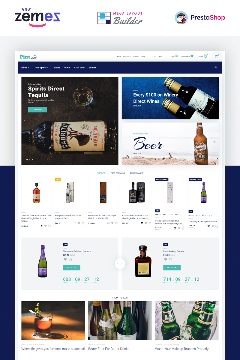 PintPot - Drinks and Beverages Store PrestaShop Theme