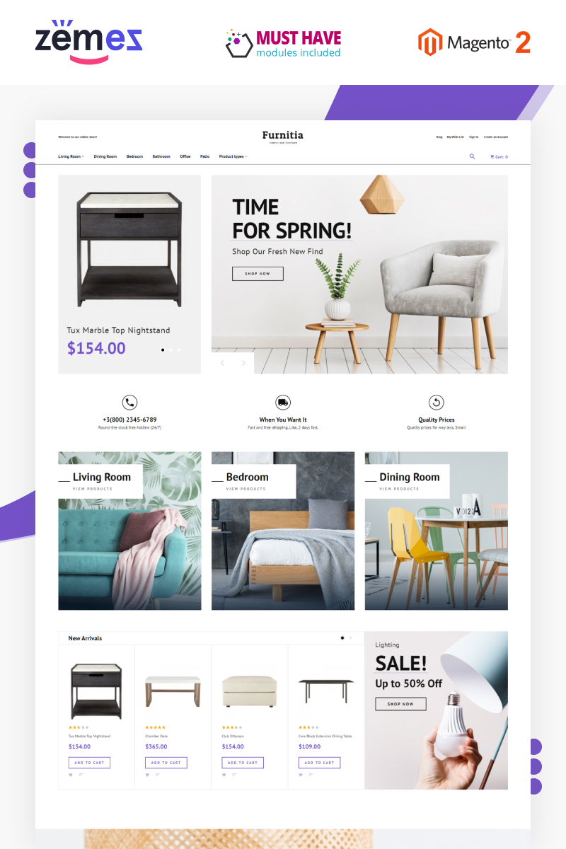Furnitia - Magento Furniture Store Theme Magento Theme