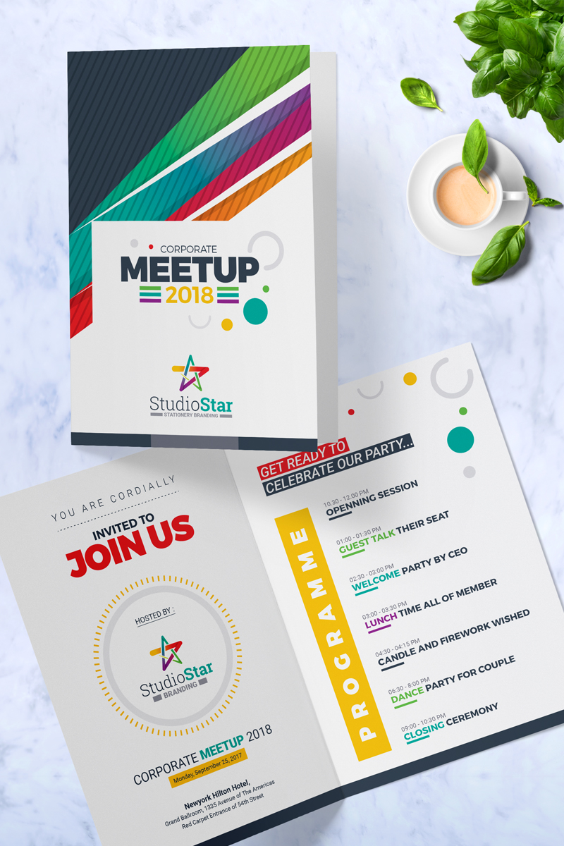 Corporate Meet Up Invitation Card Template Psd Template