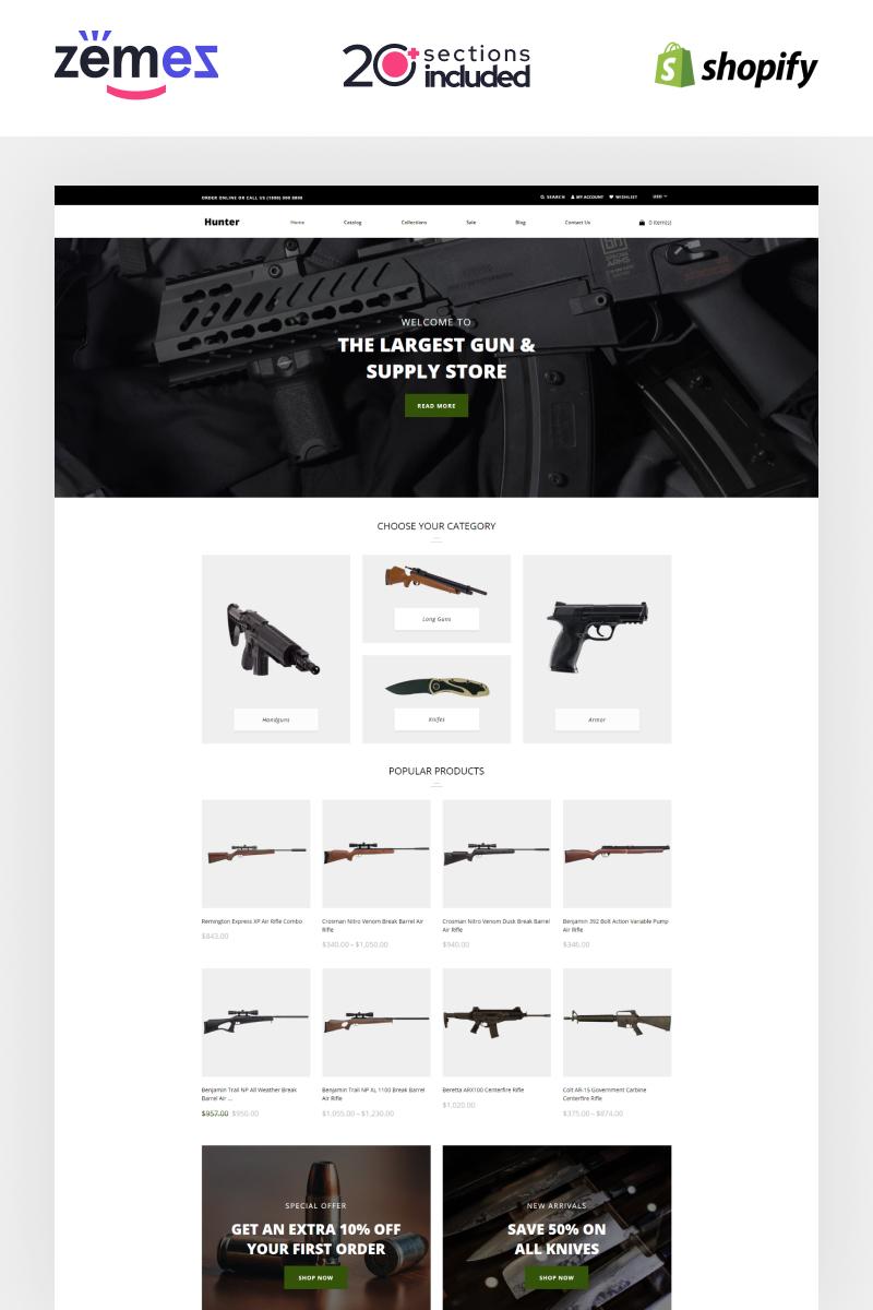 Hunter - Simple Responsive Gun Shop Shopify Theme