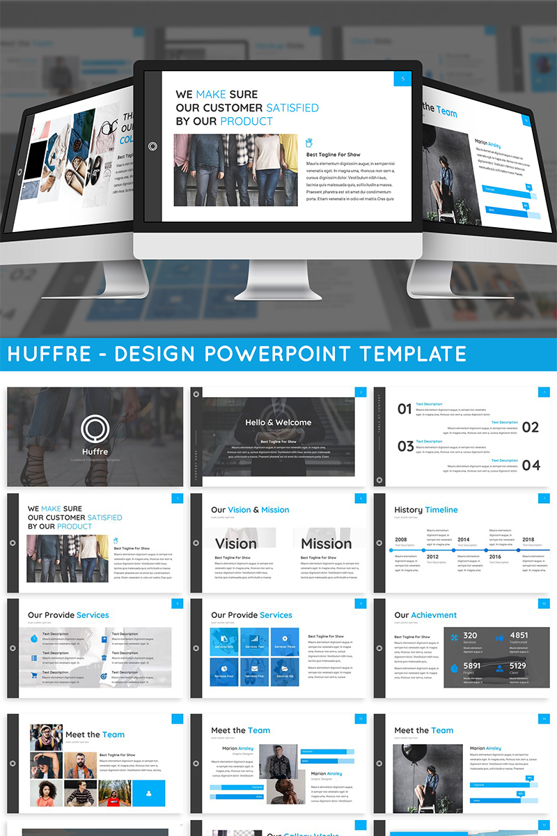 Huffre - Design PowerPoint Template