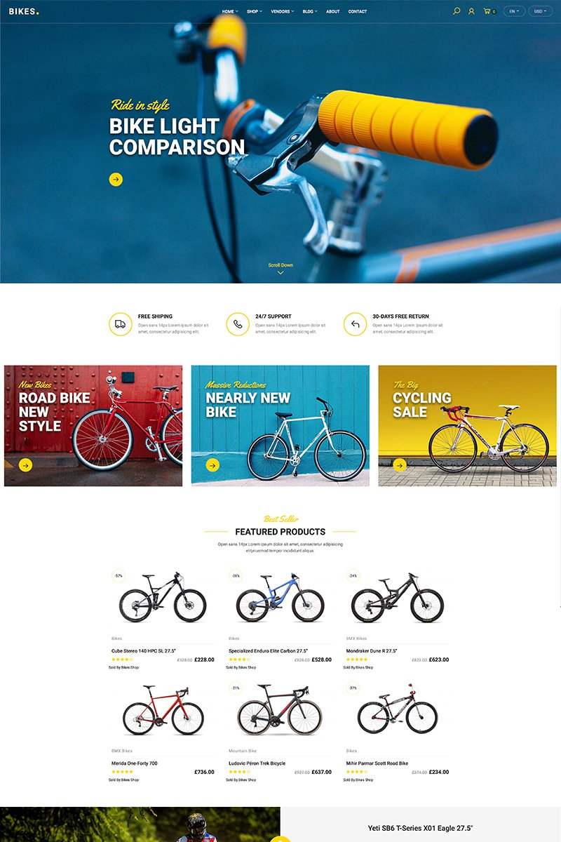 Bikes - Shop WooCommerce Theme
