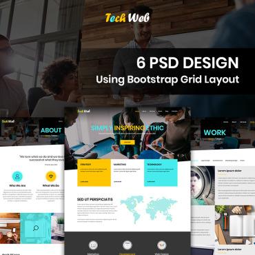 Template Web Design PSD #87673
