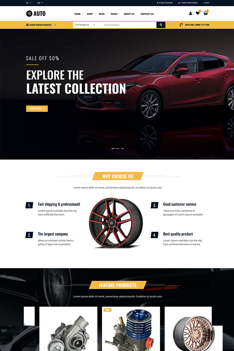Auto Repair - Car Mechanic Services WooCommerce Theme