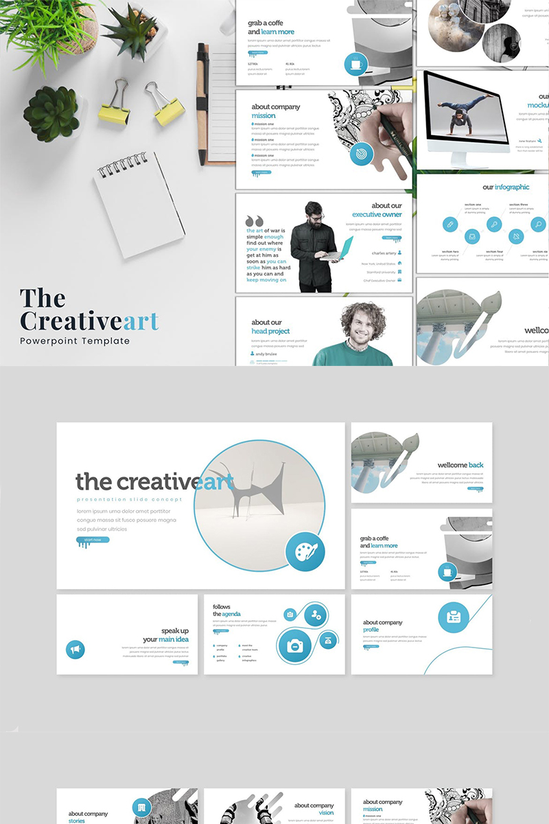 The Creativeart PowerPoint Template