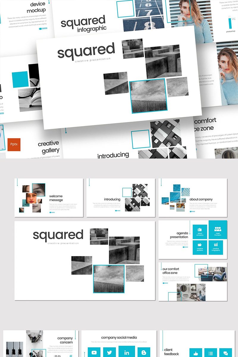 Squared PowerPoint Template