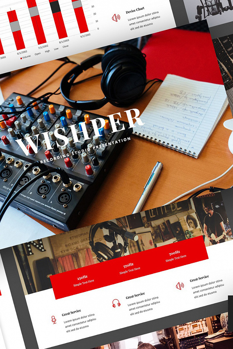 Wishper - Recording Studio Presentation PowerPoint Template
