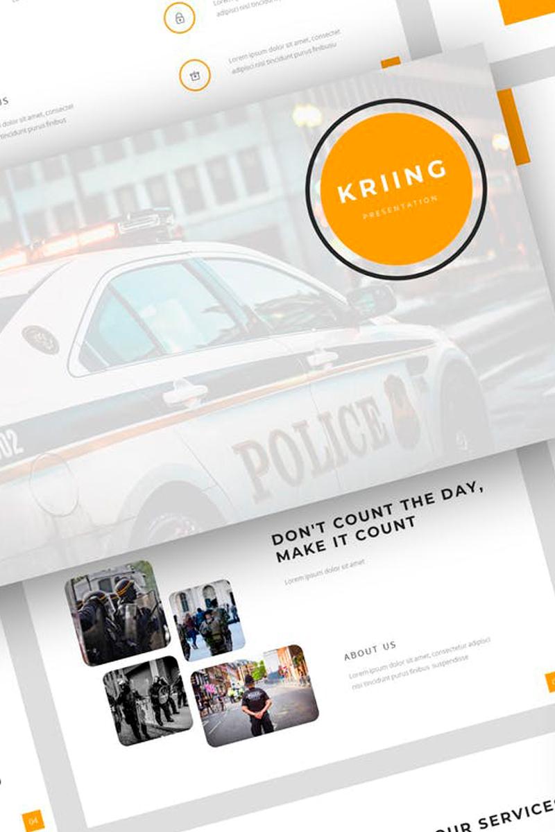 Kriing - Security Presentation PowerPoint Template