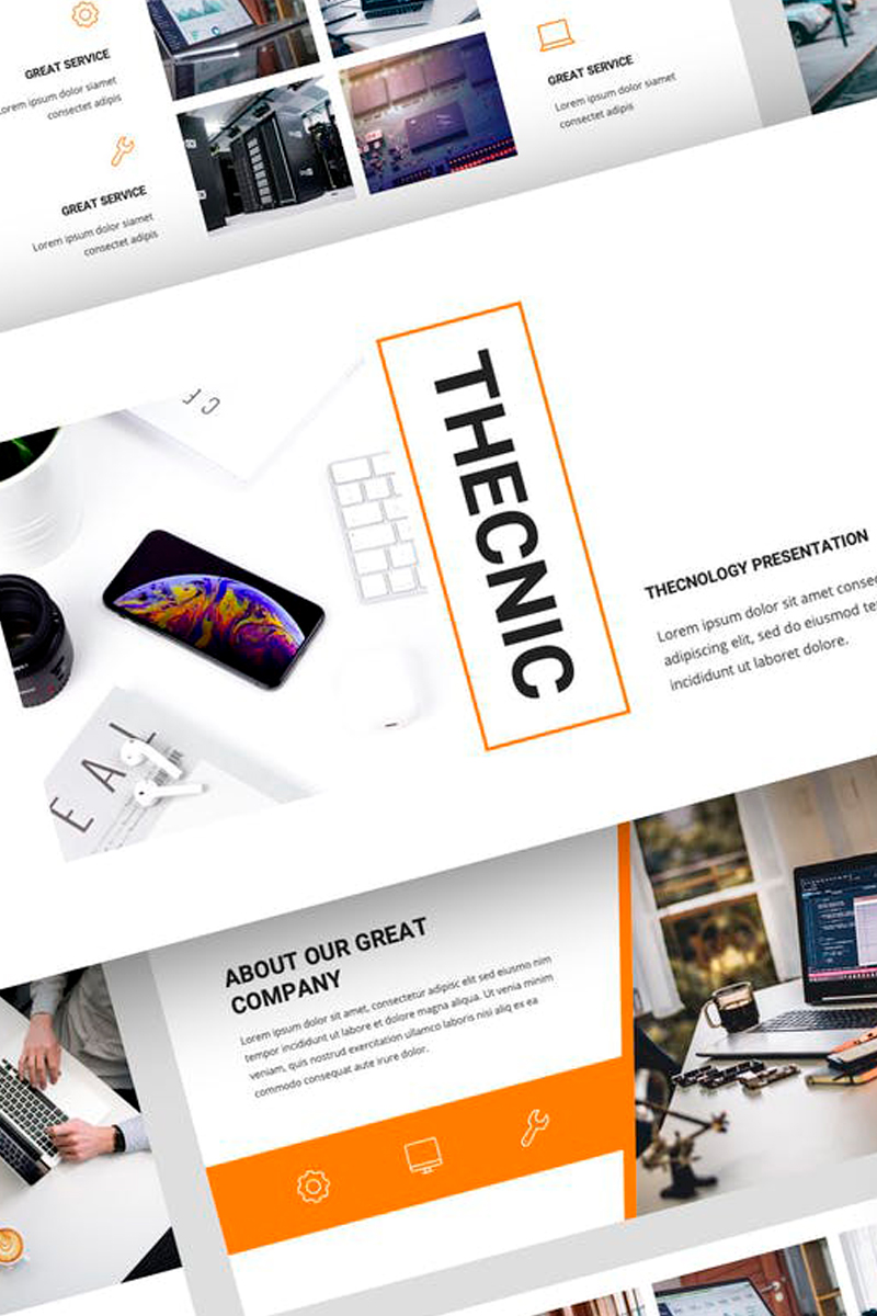Thecnic - Technology Presentation PowerPoint Template