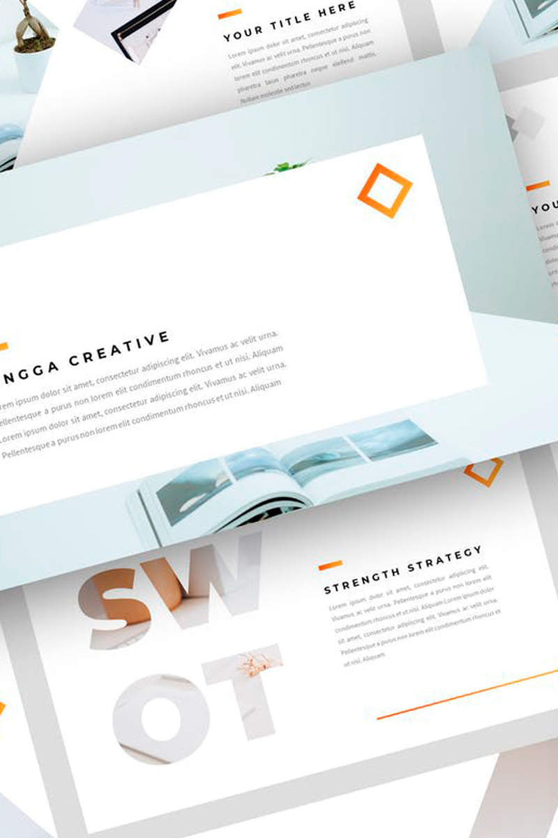 Jingga - Creative Presentation PowerPoint Template